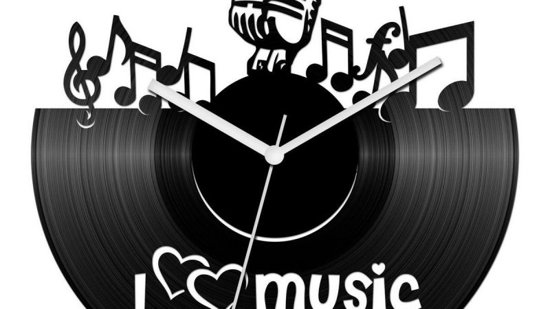 Zenés bakelit óra: a tökéletes ajándék zenerajongóknak